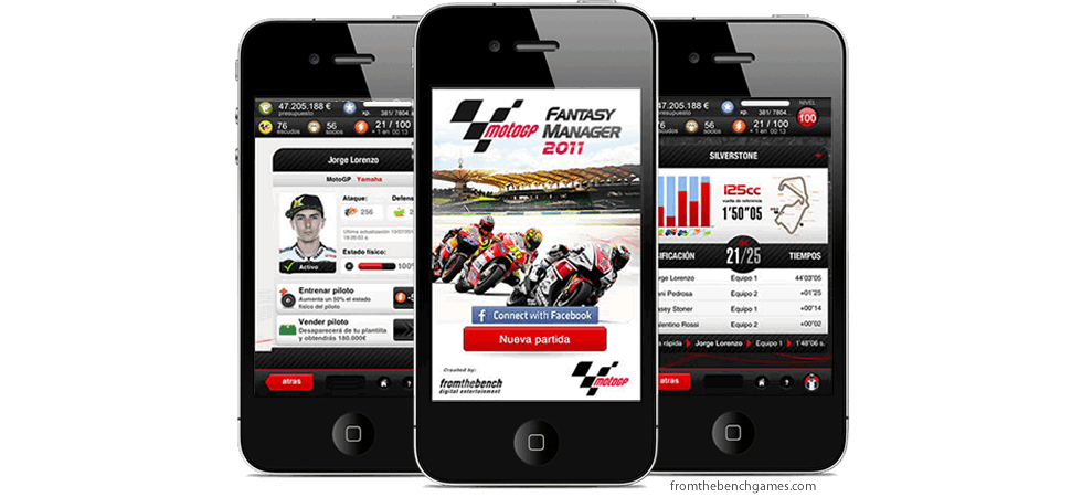 Diseño interface MotoGP Fantasy Manager